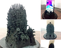 3D Printed Iron Throne Mobile Charging Station