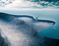 Poster visualizing Oil and Gas underwater technology.