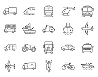 20 Transportation Vector Icons