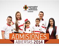 ADMISIONES 2014 COLEGIO UPB