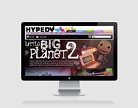 LittleBigPlanet 2 - Editorial/web design for Hyped