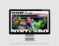Nintendo article - Editorial/web design for Hyped.nu