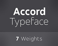 Accord - A Fresh New Sans Serif typeface