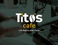 Tito's Cafe Logo & Branding
