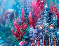Concept art of underwater Mermaid palace