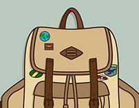 Hiking Pack Illustration