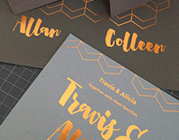 Copper Foil Wedding Stationery - Design and Print