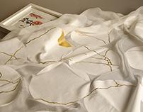 Kintsukuroi- Screen printed fabric