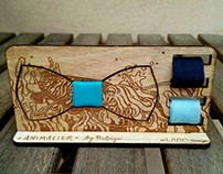 WOOD BOW TIE Animalier by Rebigo+InLabo Design - Squid
