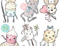 Dessert characters
