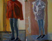 study with maneken  15' min oil on bristol paper