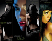 Black The Salon Print Ads Published