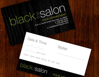 Black The Salon In-Salon Print Materials