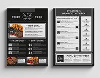 Food & Restaurant Menu Design