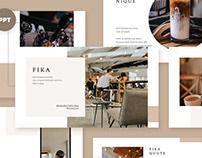 Fika Coffee Shop PPT/Keynote/GS Presentation