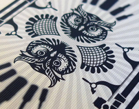 Hungover Owl Playing Cards