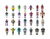 Robot avatars,characters (with full body)