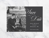 Save the Date: Ashley + David
