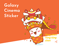 Galaxy Cinema Sticker