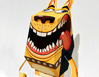 Paper Toy: Yellow Dog