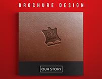 Leather Company Profile | Brochure Design (RED)