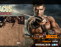 Spartacus TV Show rich media campaign