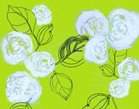 Works on paper-florals