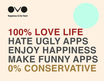 「OVO:Happiness In Our Hand」網頁互動設計