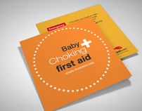 Baby Choking first aid - print design
