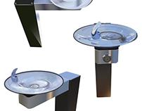Fixture Design, Water Fountain Renderings