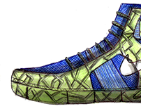 Basketball Shoe Fast Ideation/Sketch