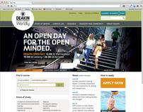 Deakin University web site update 2012