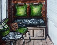 Interior Sketch, Интерьерный Скетч, Скетчинг