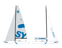 7 x Racing yacht graphic