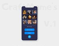 CraftMeme's UX/UI