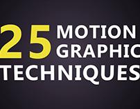 25 Motion Graphic Techniques