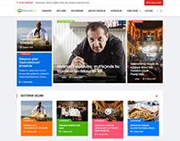 Gastronomy Web Design News Blog Magazine Concept