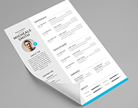 Free resume template in Microsoft word and Photosho PSD
