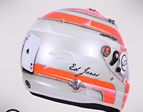 Ed Jones Racing Indy Lights Arai GP6-RC