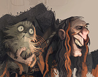 Argus Filch - HarryPotter Character Design
