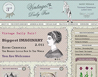 Vintage Daily Fair - Web Design