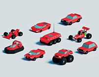 Lowpoly racing game design