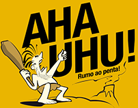 Aha Uhu T-Shirt Illustration