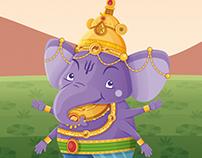Ganesha and the golden mango