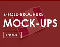 Z-Trifold Brochure Mock-Ups