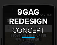 9GAG Android App - ReDesign Concept