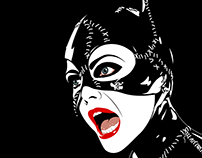 """Hear Me Roar"" Catwoman T-Shirt Design"