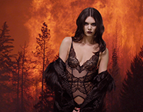 Kendall Jenner YuleFire for Love Magazine By James Lima