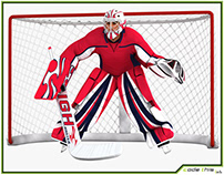 3D Model: Hockey Goalkeeper HD 001
