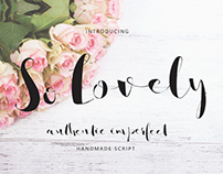 SO LOVELY SCRIPT - FREE HANDWRITTEN FONT